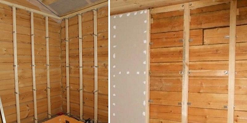 Обшиваем стены гипсокартоном в деревянном доме своими руками.